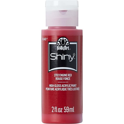 FolkArt ® Shiny™ Acrylic Paint - Engine Red, 2 oz. - 2702