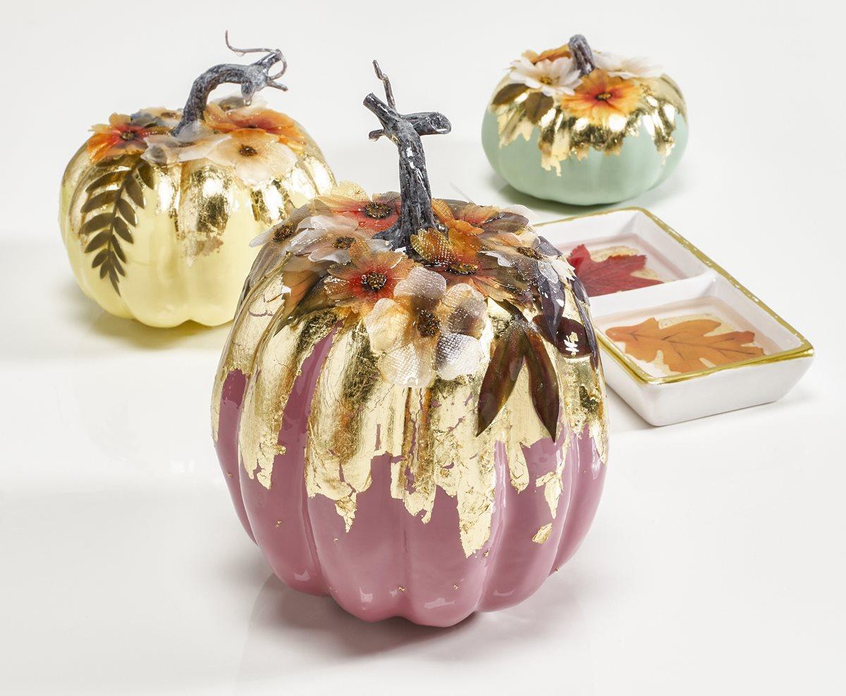 Mod Podge Resin Floral Pumpkins