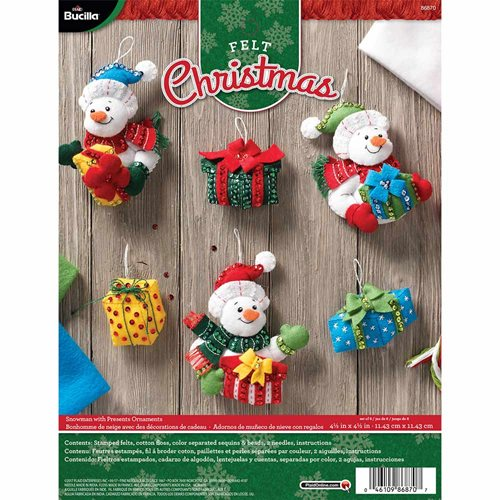 Bucilla ® Seasonal - Felt - Ornament Kits - Snowman with Presents