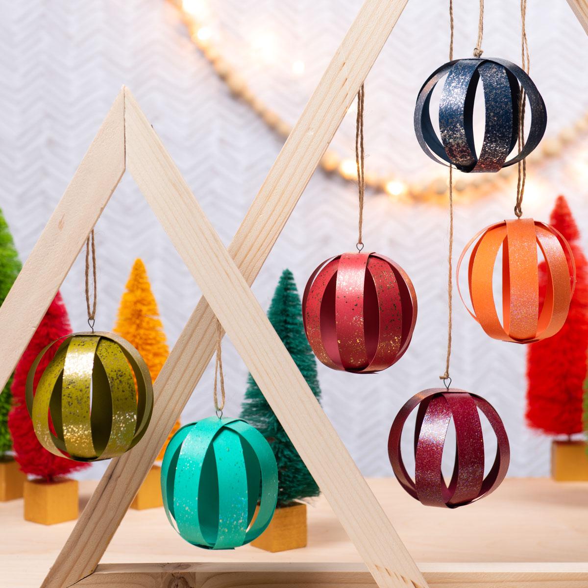 Decoupage Glitter Ornaments