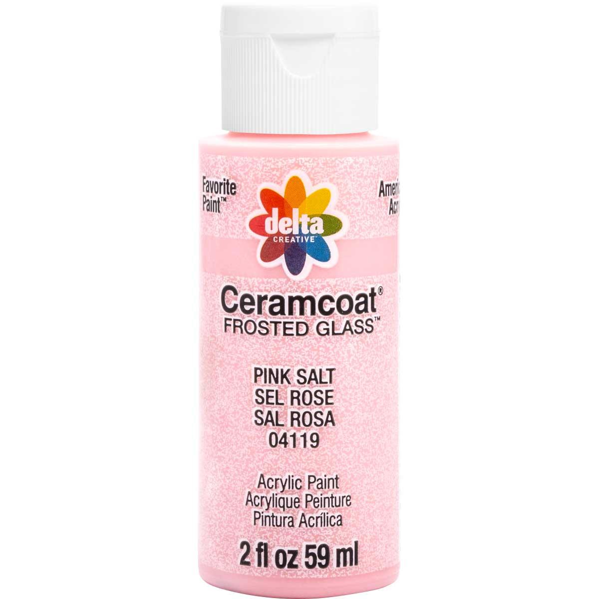 Delta Ceramcoat ® Frosted Glass Paint - Pink Salt, 2 oz. - 04119