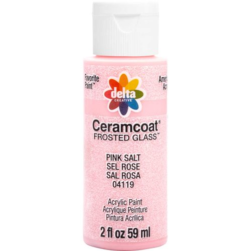 Delta Ceramcoat ® Frosted Glass Paint - Pink Salt, 2 oz. - 04119