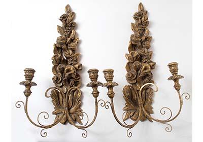 Antiqued Sconces featuring FolkArt Home Décor Chalk