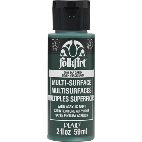 FolkArt ® Multi-Surface Satin Acrylic Paints - Sap Green, 2 oz.