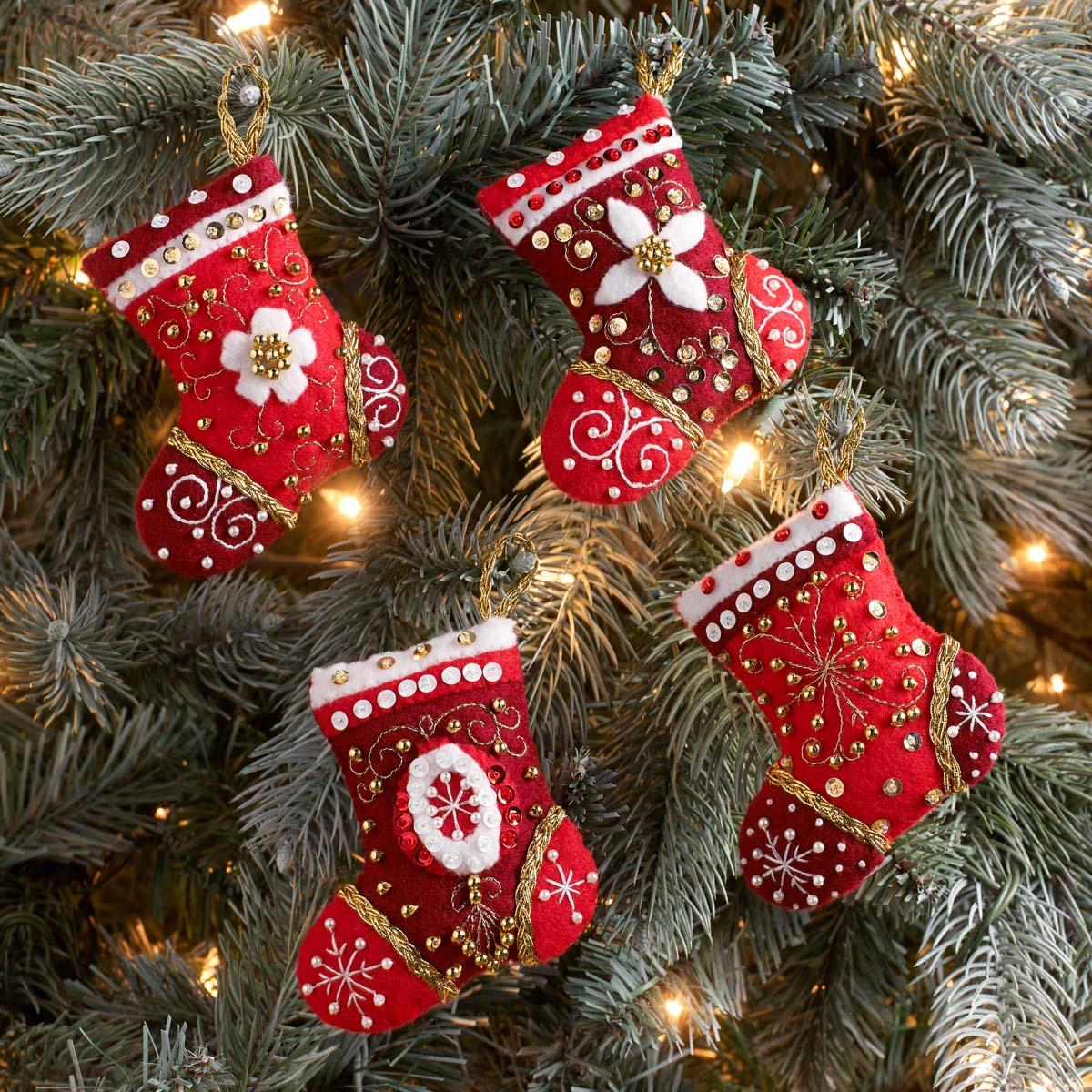 Bucilla ® Seasonal - Felt - Ornament Kits - Holiday Elegance - 89077E