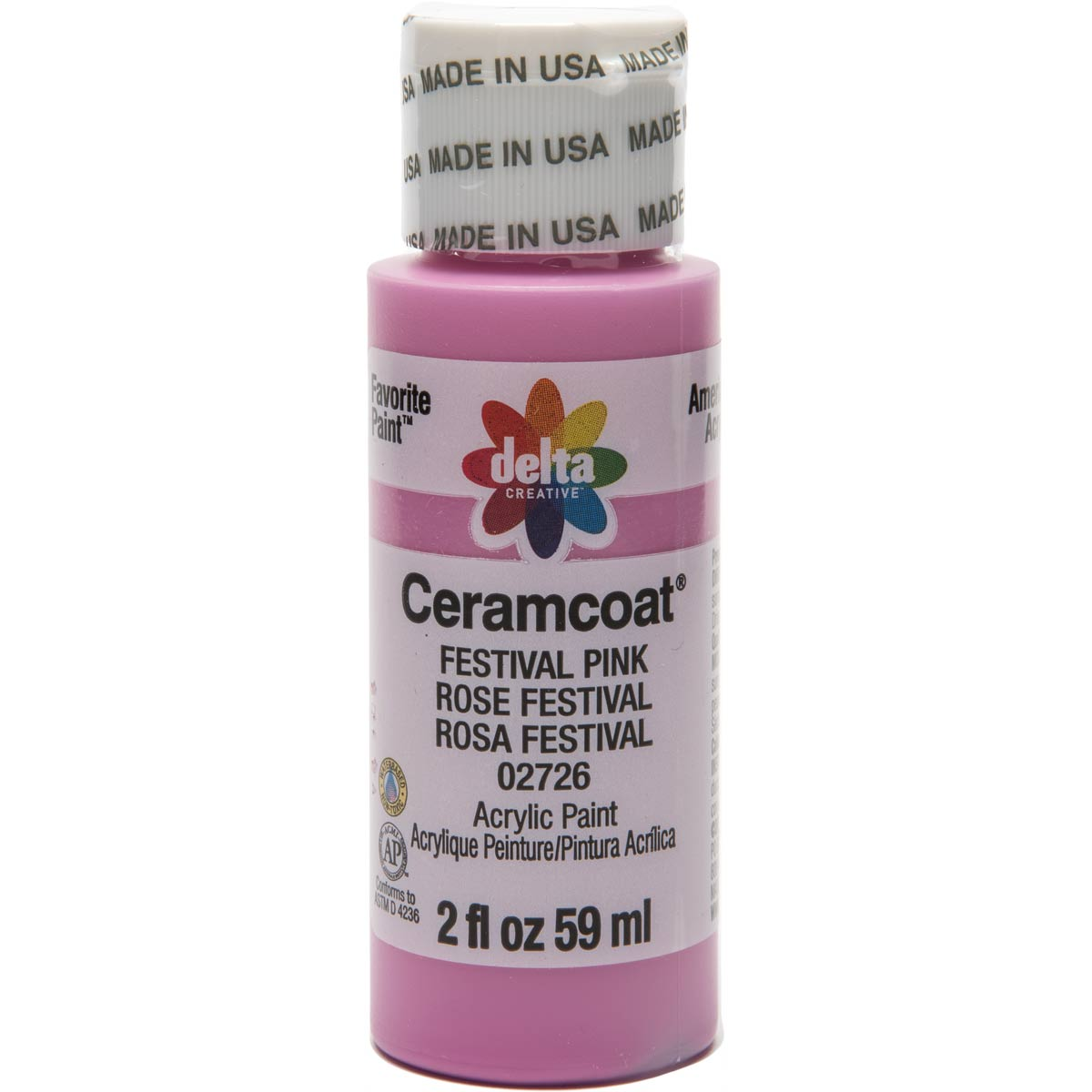 Delta Ceramcoat ® Acrylic Paint - Festival Pink, 2 oz.