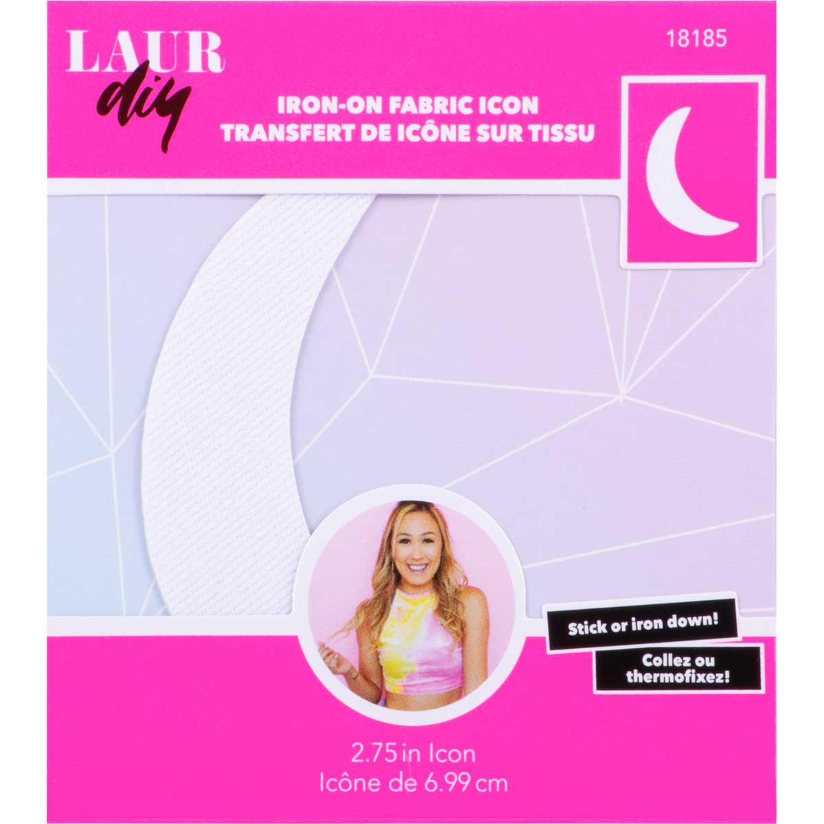 LaurDIY ® Iron-on Fabric Letters - Moon