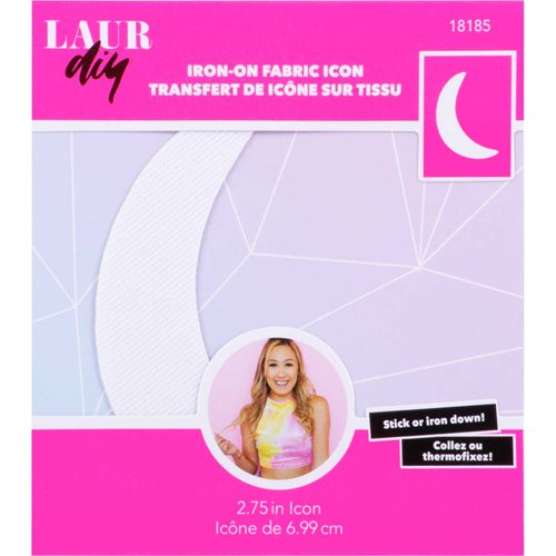 LaurDIY ® Iron-on Fabric Letters - Moon