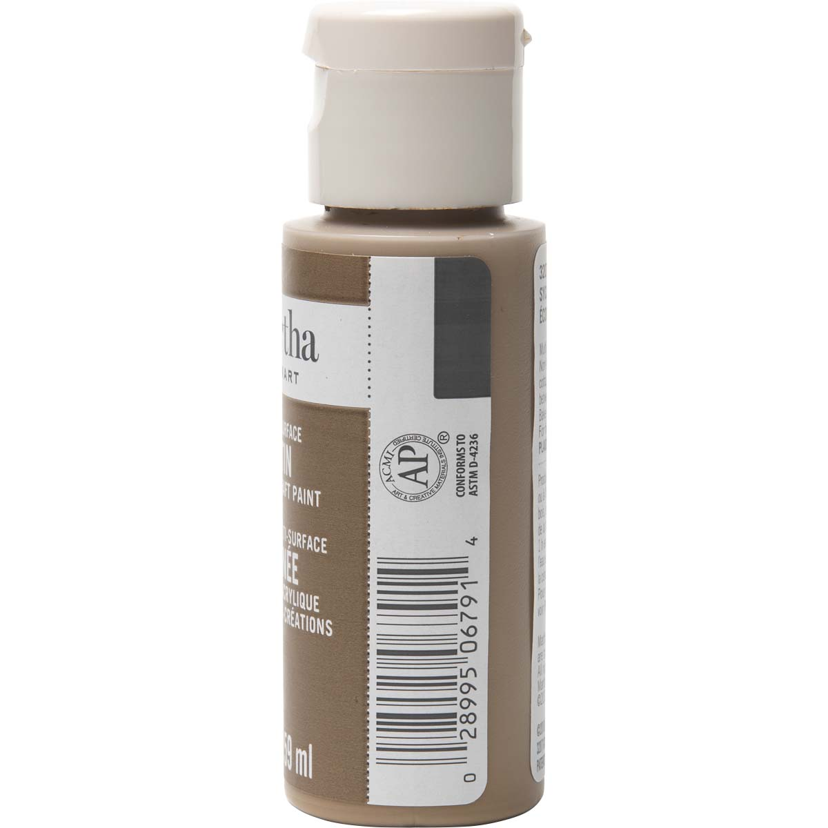 Martha Stewart ® Multi-Surface Satin Acrylic Craft Paint - Sycamore Bark, 2 oz. - 32071CA