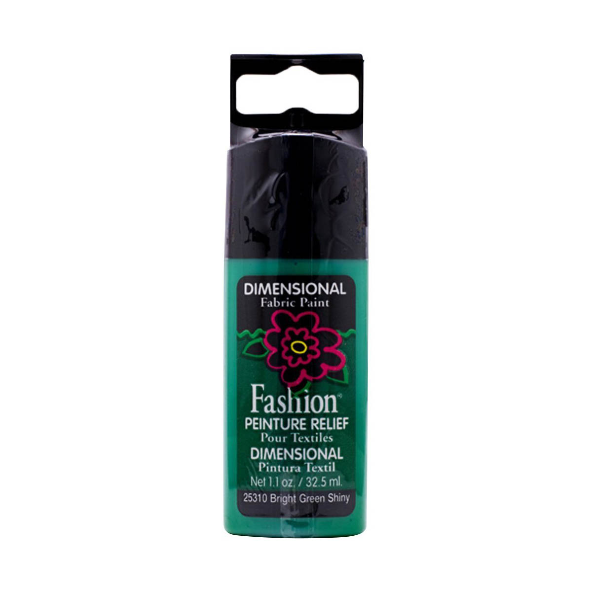 Fashion ® Dimensional Fabric Paint  - Shiny - Bright Green