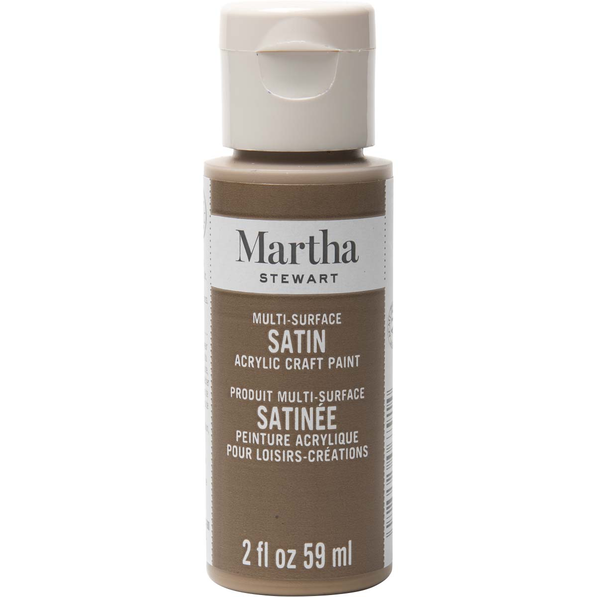 Martha Stewart ® Multi-Surface Satin Acrylic Craft Paint - Sycamore Bark, 2 oz.