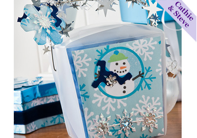 "Snowflake ""To-Go Box"" Gift Box"