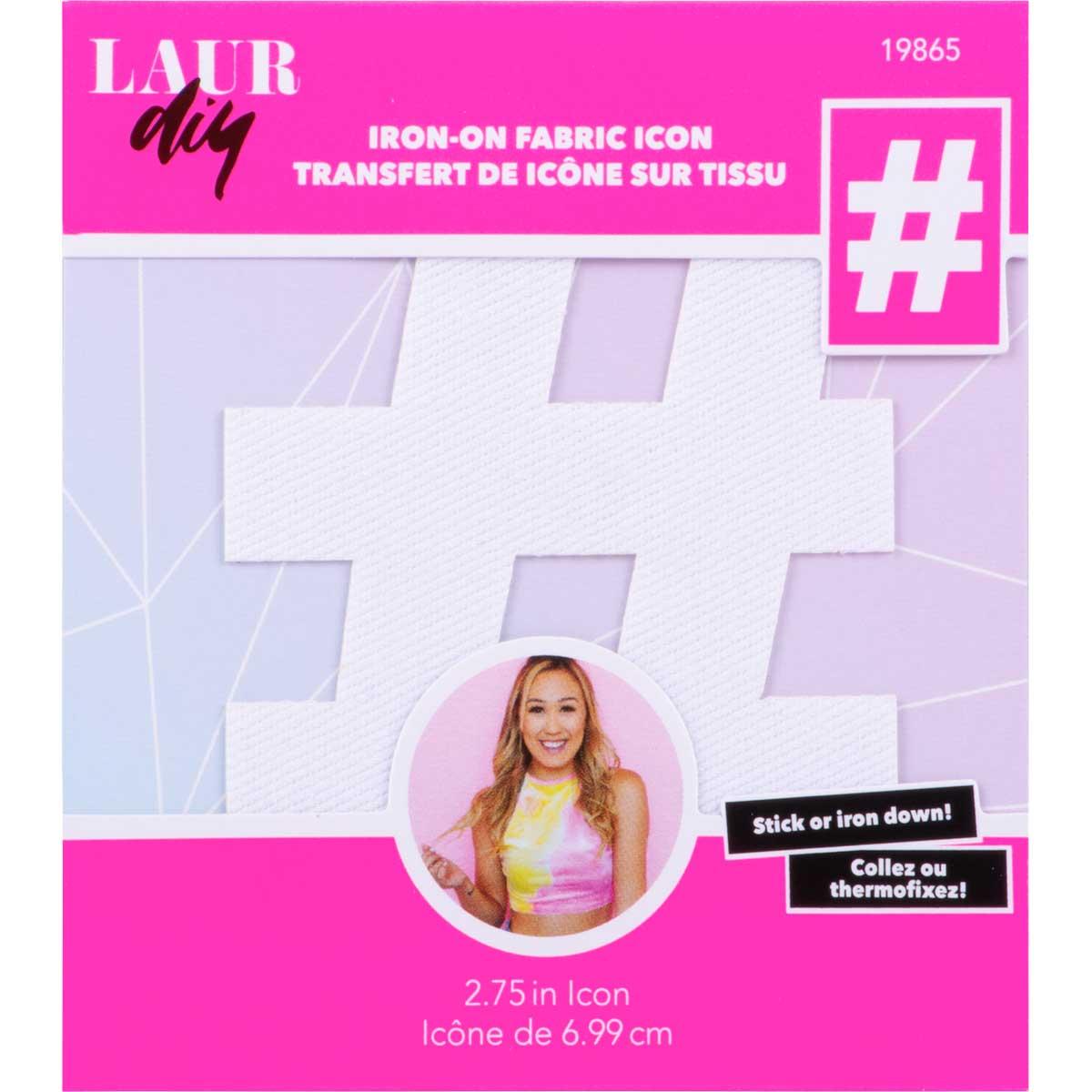 LaurDIY ® Iron-on Fabric Letters - #