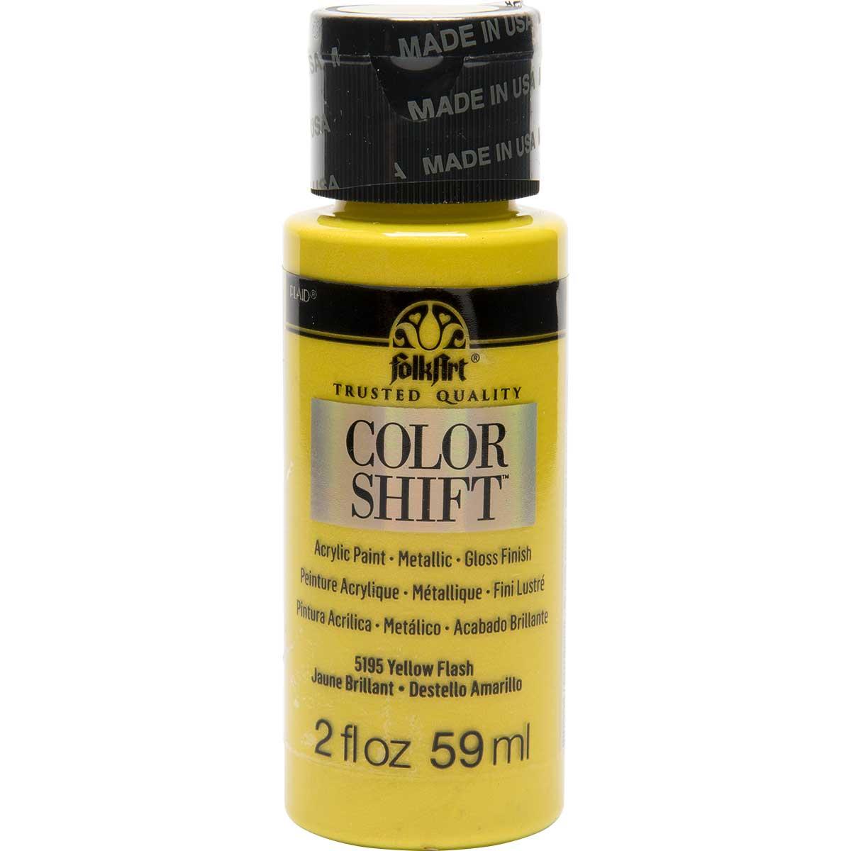FolkArt ® Color Shift™ Acrylic Paint - Yellow Flash, 2 oz.