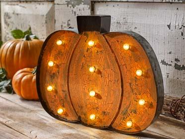 DIY Marquee Light Pumpkin