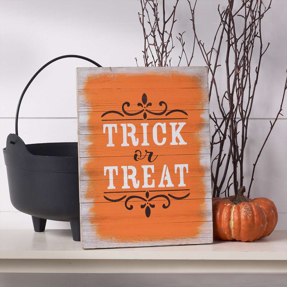 Stenciled Halloween Sign