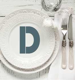 Bold Monogram Decorative Dinner Plate