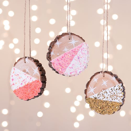 DIY Dipped Glitter Ornaments