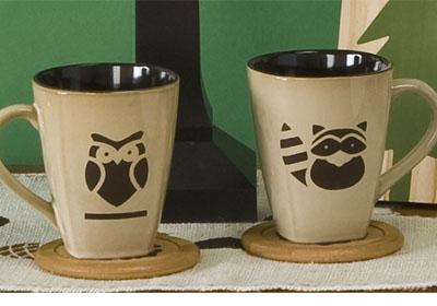 Handmade Charlotte™ Woodland Critters Ceramic Mugs