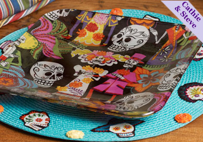 Day of the Dead Cheese Plate & Placemat
