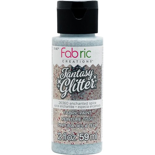 Fabric Creations™ Fantasy Glitter™ Fabric Paint - Enchanted Spice, 2 oz.