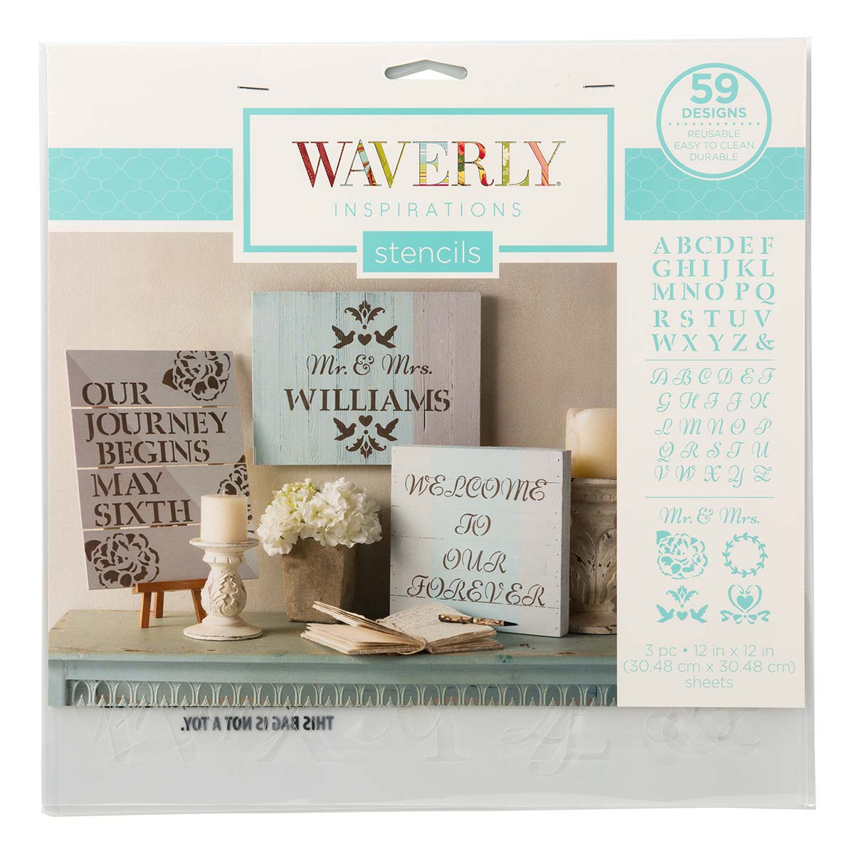 Waverly ® Inspirations Laser Stencils - Décor - Alpha, 12