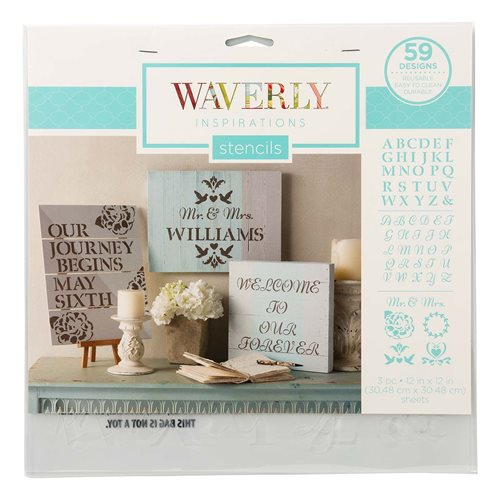 "Waverly ® Inspirations Laser Stencils - Décor - Alpha, 12"" x 12"""