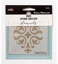 FolkArt ® Home Decor™ Stencils - Scroll Medallion - 34950