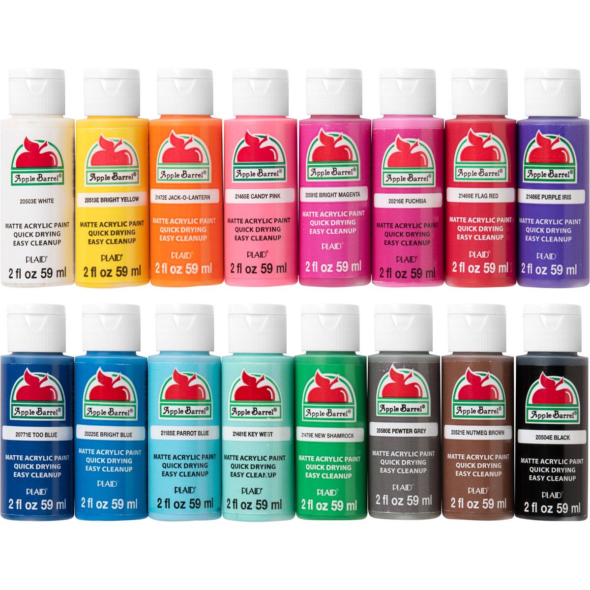 Apple Barrel ® Colors Acrylic Paint 16 Color Set