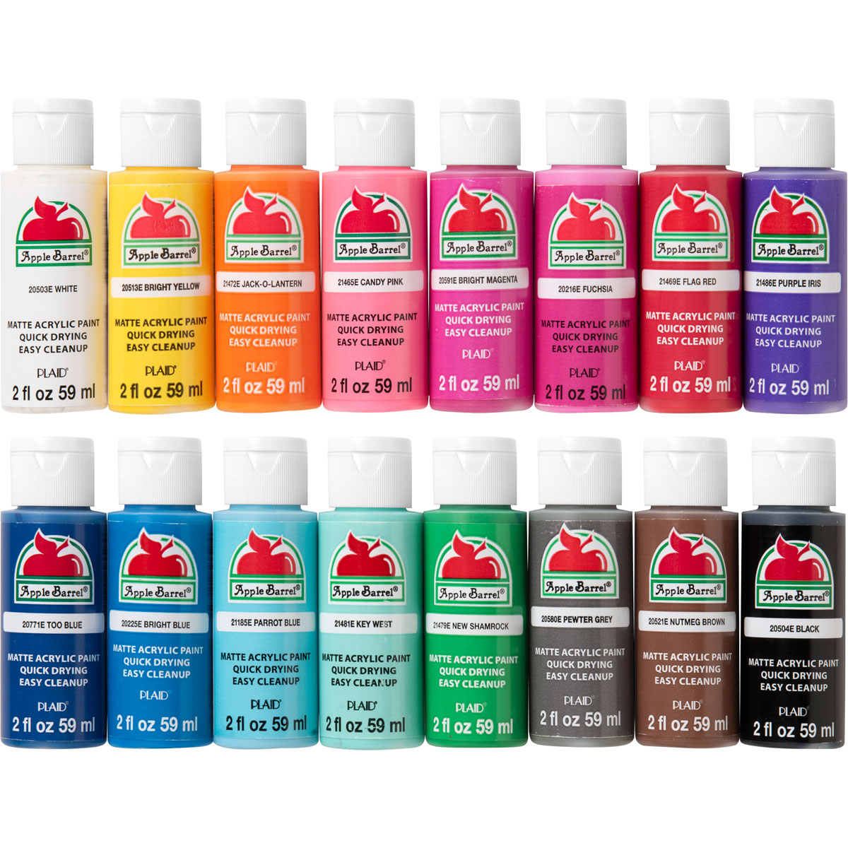 Apple Barrel ® Colors Acrylic Paint 16 Color Set - PROMOABIII
