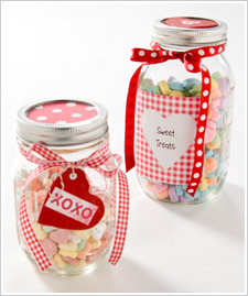 Valentine Treat Jars