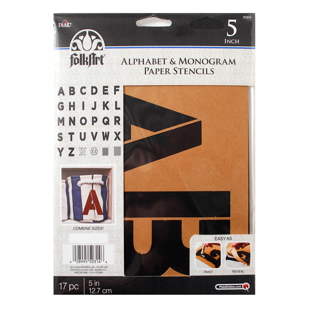 FolkArt ® Alphabet & Monogram Paper Stencils - Bold Font, 5