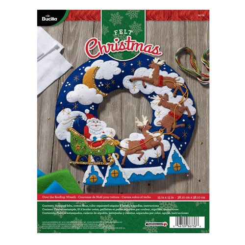 Bucilla ® Seasonal - Felt - Home Decor - Over the Rooftop Wreath
