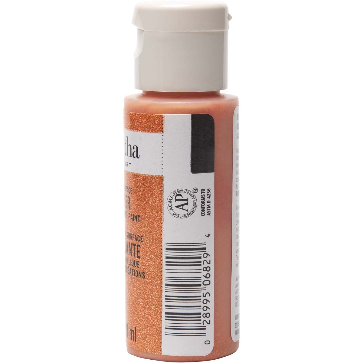 Martha Stewart® 2oz Multi-Surface Glitter Acrylic Craft Paint - Orange Sorbet