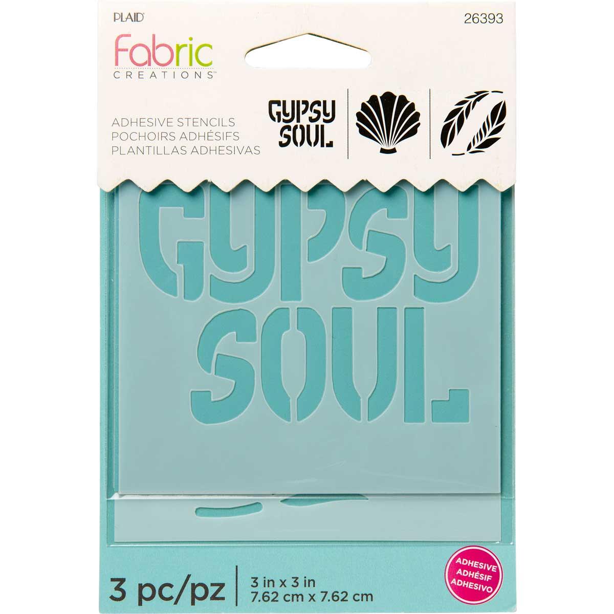 Fabric Creations™ Adhesive Stencils - Mini - Boho, 3