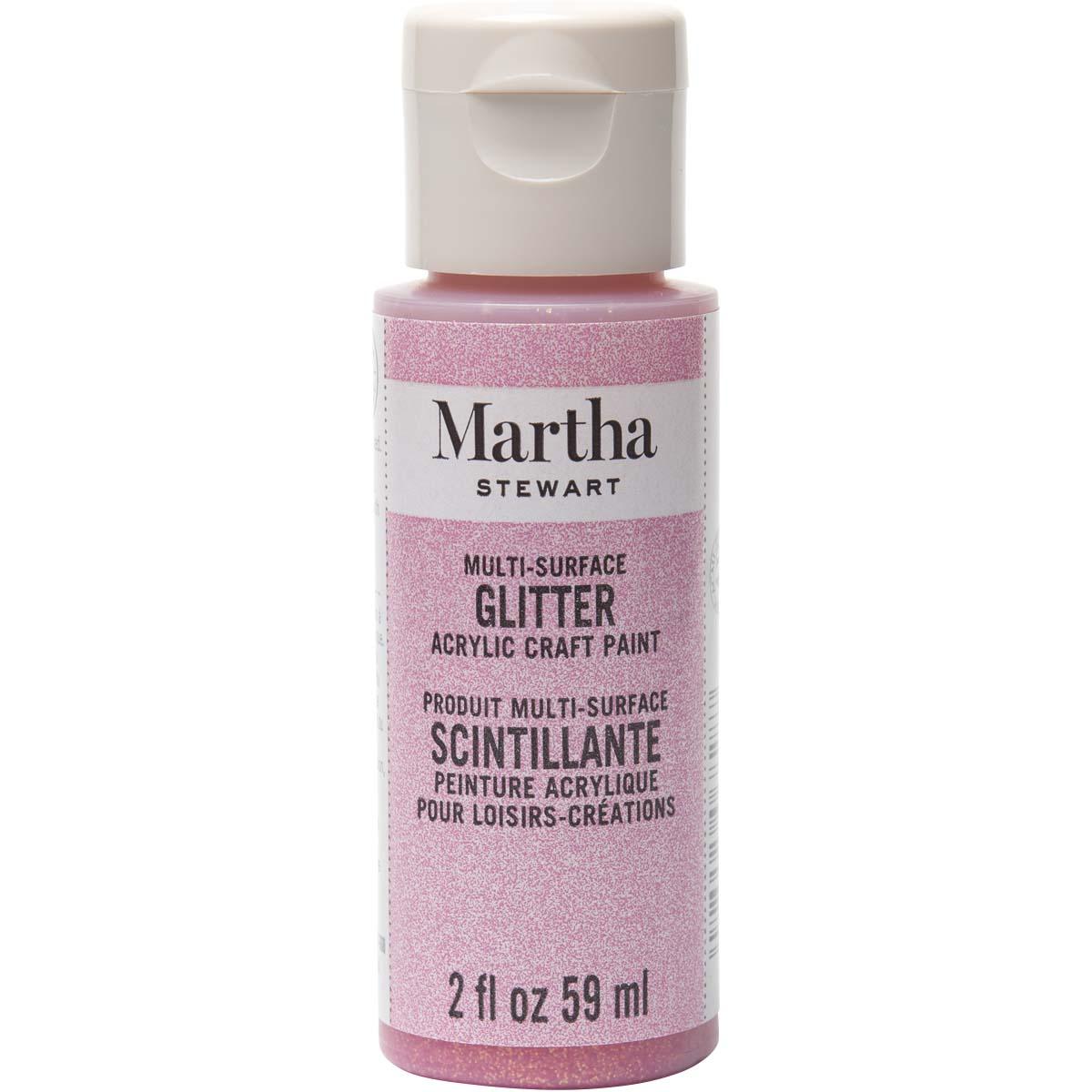 Martha Stewart® 2oz Multi-Surface Glitter Acrylic Craft Paint - Cotton Candy