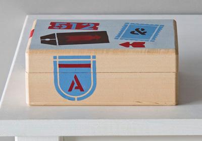 Handmade Charlotte Label Keepsake Box