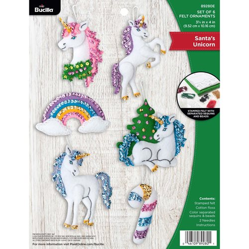 Bucilla ® Seasonal - Felt - Ornament Kits - Santa's Unicorn - 89280E