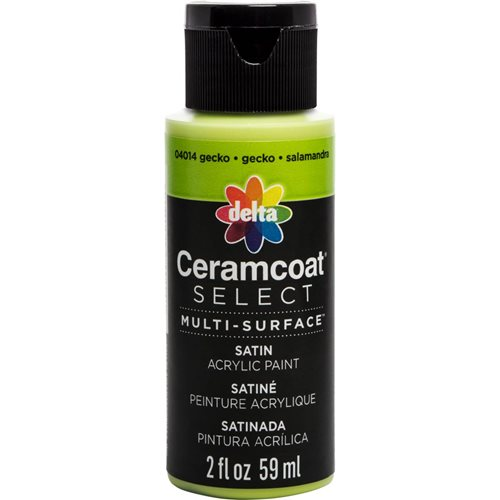 Delta Ceramcoat ® Select Multi-Surface Acrylic Paint - Satin - Gecko, 2 oz.