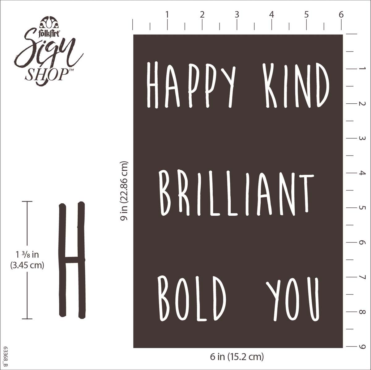 FolkArt ® Sign Shop™ Mesh Stencil - Be You, 2 pc. - 63368