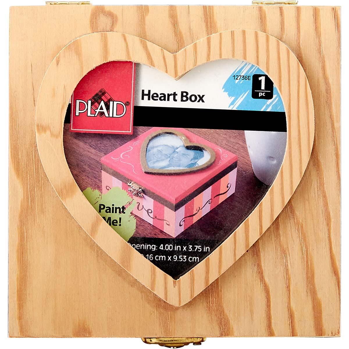 Plaid ® Wood Surfaces - Heart Box - 12736