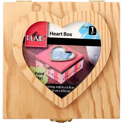 Plaid ® Wood Surfaces - Heart Box - 12736