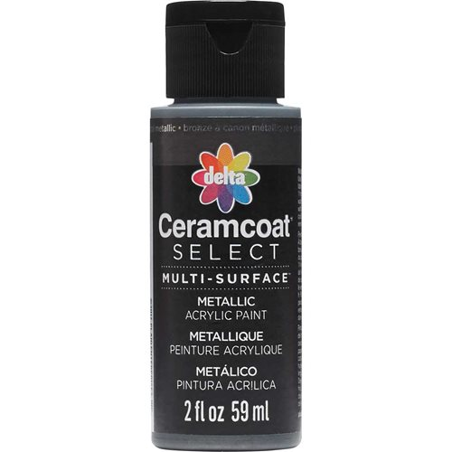 Delta Ceramcoat ® Select Multi-Surface Acrylic Paint - Metallic - Gunmetal, 2 oz.