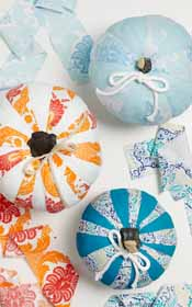 DIY Pumpkin Decor with Waverly Inspirations Fabrics