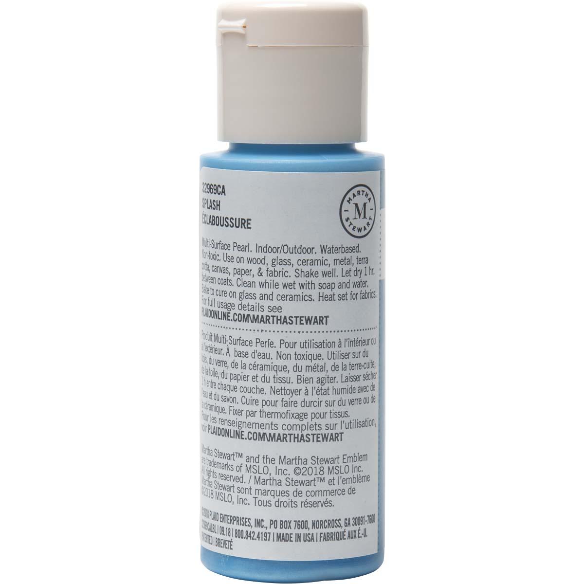 Martha Stewart ® Multi-Surface Pearl Acrylic Craft Paint - Splash, 2 oz. - 32969CA