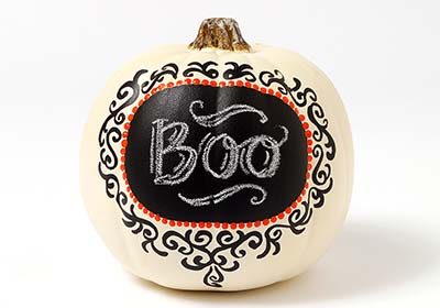 Label Chalkboard Pumpkin