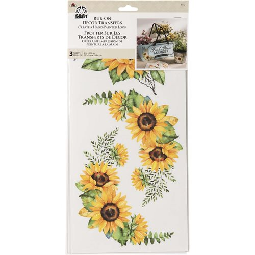 FolkArt ® Rub-On Décor Transfer - Flower Market, 3 pc. - 36112