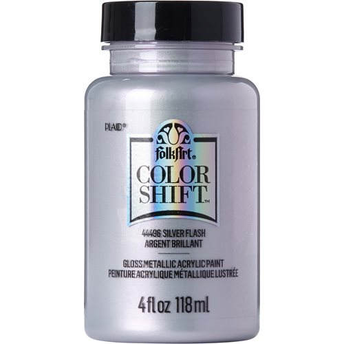 FolkArt ® Color Shift™ Acrylic Paint - Silver Flash, 4 oz. - 44496