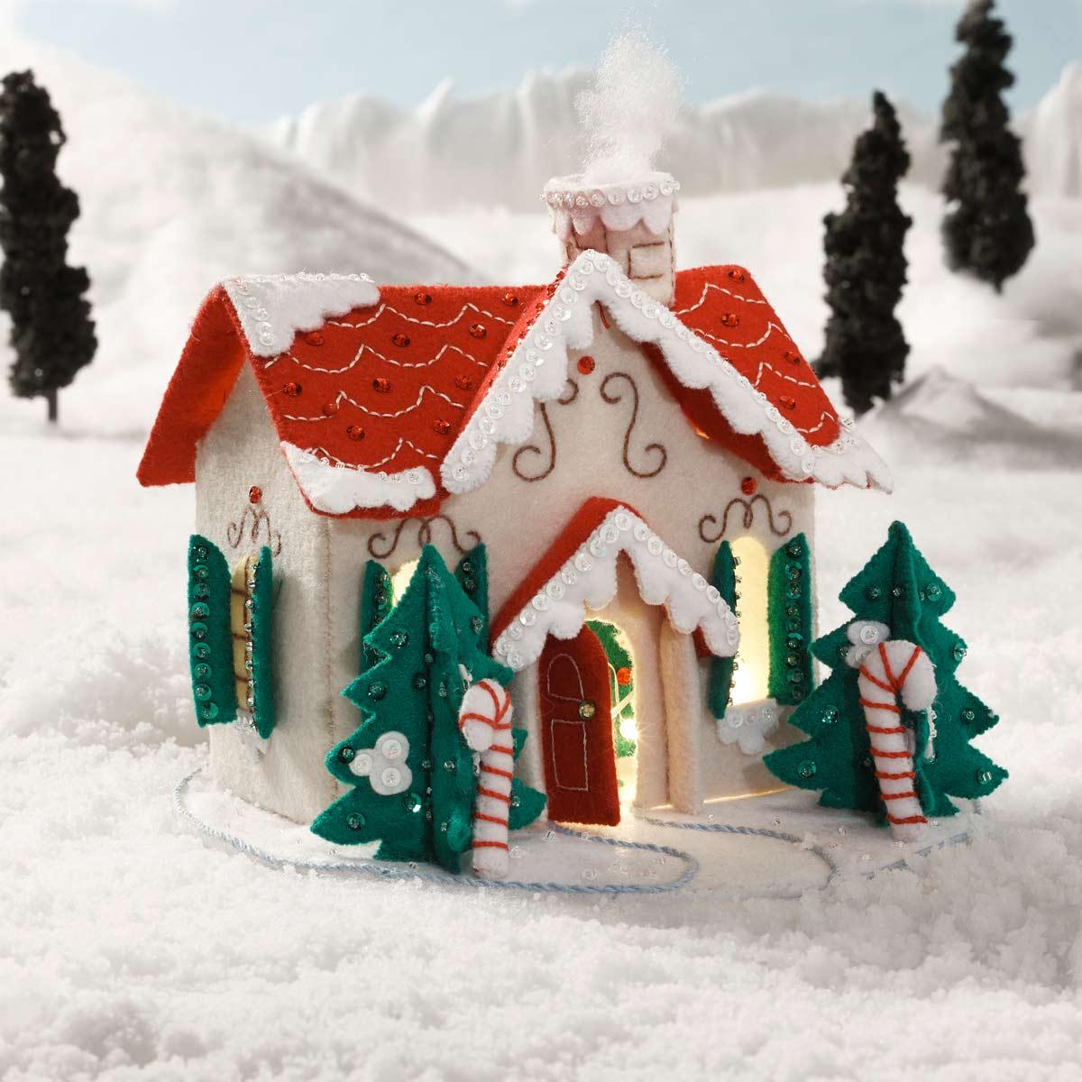 Bucilla ® Seasonal - Felt - Home Decor - Christmas Village 3D House