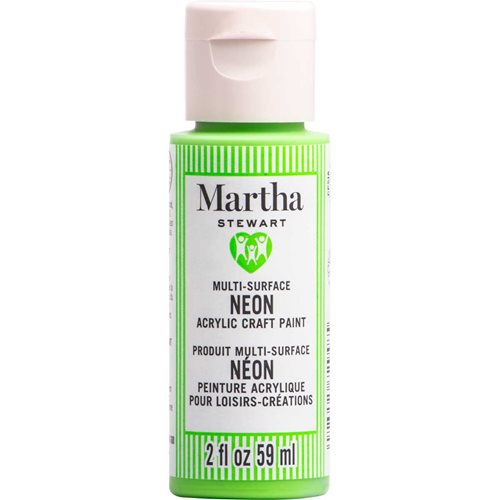 Martha Stewart ® Multi-Surface Neon Acrylic Craft Paint CPSIA - Green Frog, 2 oz. - 72948